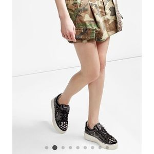 • KENZO • Perforated K-Lace Platform Sneaker 39 9